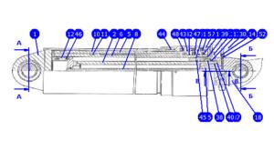 А60/80М1.11.00.000 — Гидроцилиндр