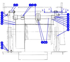 АР32/40.128.00.000 — Установка успокоителя талевого каната